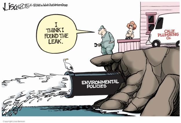Cartoonist Lisa Benson  Lisa Benson's Editorial Cartoons 2015-04-18 environmental