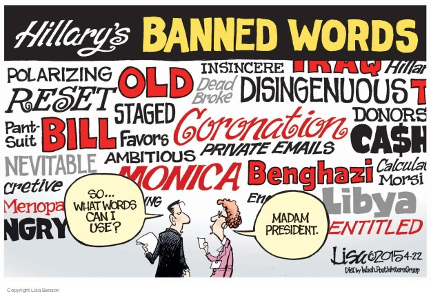 Lisa Benson  Lisa Benson's Editorial Cartoons 2015-04-22 favor