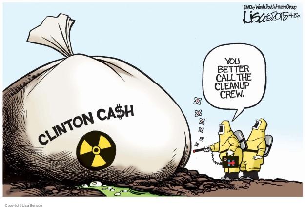 Lisa Benson  Lisa Benson's Editorial Cartoons 2015-04-26 finance