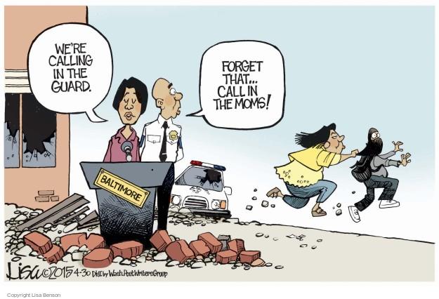 Cartoonist Lisa Benson  Lisa Benson's Editorial Cartoons 2015-04-30 guard
