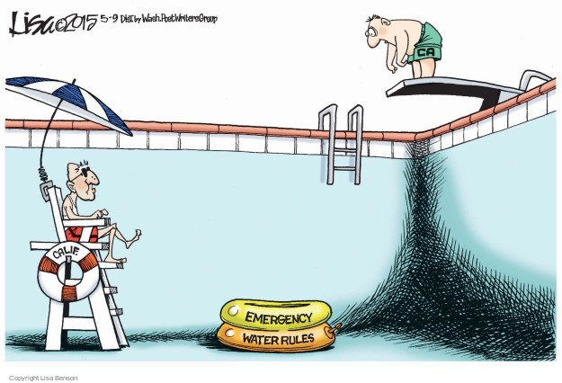 Cartoonist Lisa Benson  Lisa Benson's Editorial Cartoons 2015-05-09 Jerry Brown