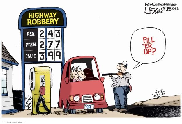 Cartoonist Lisa Benson  Lisa Benson's Editorial Cartoons 2015-05-23 highway