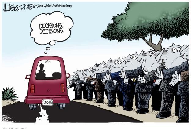 Cartoonist Lisa Benson  Lisa Benson's Editorial Cartoons 2015-06-03 election