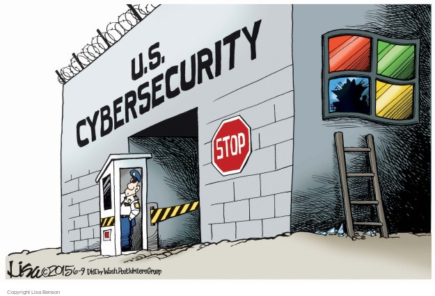 Cartoonist Lisa Benson  Lisa Benson's Editorial Cartoons 2015-06-09 security breach