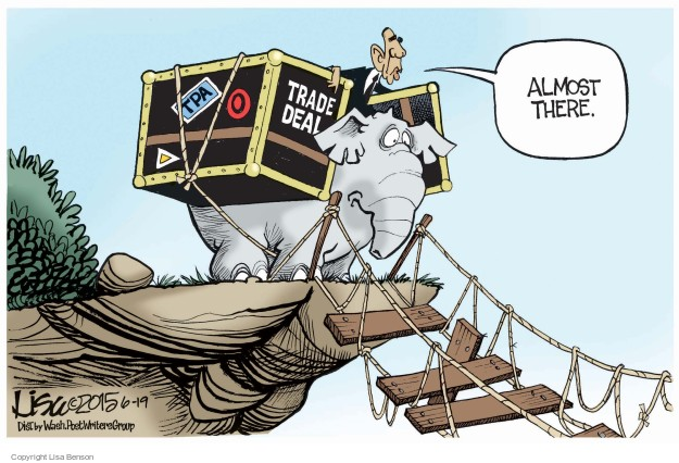 Lisa Benson  Lisa Benson's Editorial Cartoons 2015-06-19 negotiation