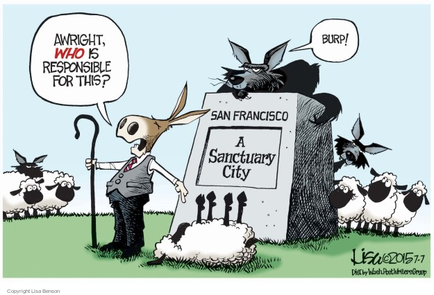 Cartoonist Lisa Benson  Lisa Benson's Editorial Cartoons 2015-07-07 San Francisco