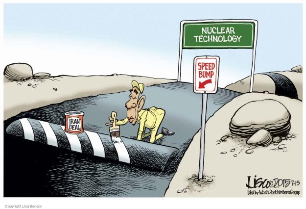 Cartoonist Lisa Benson  Lisa Benson's Editorial Cartoons 2015-07-15 nuclear