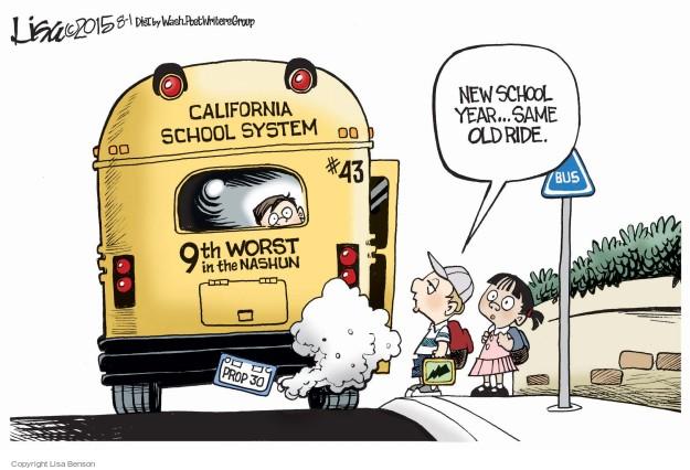 Cartoonist Lisa Benson  Lisa Benson's Editorial Cartoons 2015-08-01 school
