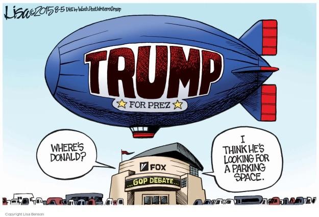 Lisa Benson  Lisa Benson's Editorial Cartoons 2015-08-05 2016 Republican Debate