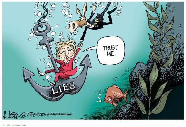 Cartoonist Lisa Benson  Lisa Benson's Editorial Cartoons 2015-08-13 election