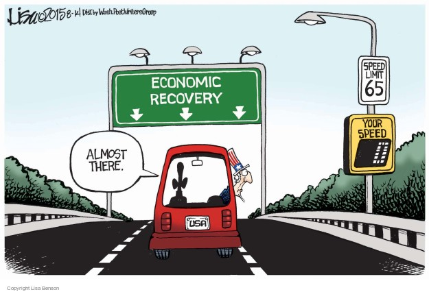 Cartoonist Lisa Benson  Lisa Benson's Editorial Cartoons 2015-08-14 recession