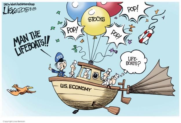 Lisa Benson  Lisa Benson's Editorial Cartoons 2015-08-25 Federal Reserve Bank