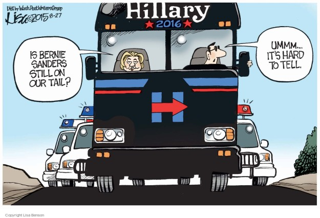 Lisa Benson  Lisa Benson's Editorial Cartoons 2015-08-27 2016 Election Bernie Sanders