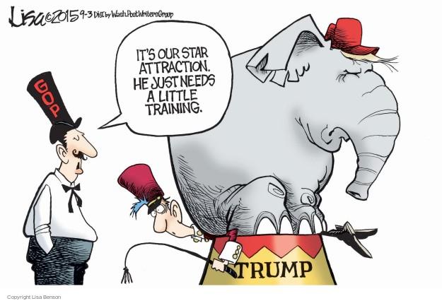 Cartoonist Lisa Benson  Lisa Benson's Editorial Cartoons 2015-09-03 election