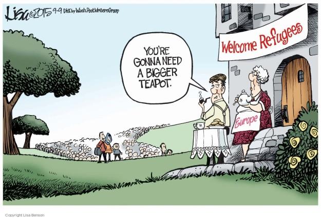 Cartoonist Lisa Benson  Lisa Benson's Editorial Cartoons 2015-09-09 immigrant
