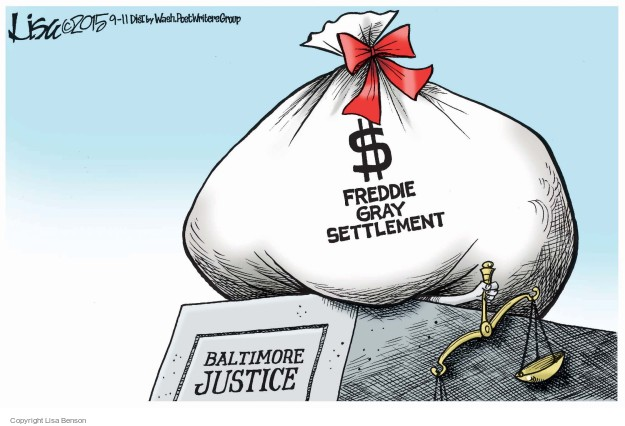 Cartoonist Lisa Benson  Lisa Benson's Editorial Cartoons 2015-09-10 death