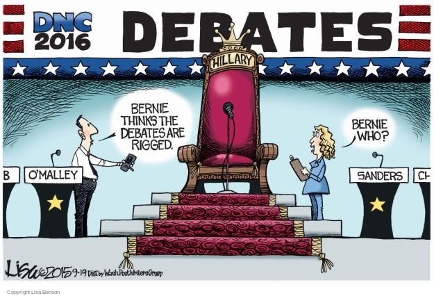 Lisa Benson  Lisa Benson's Editorial Cartoons 2015-09-19 2016 Election Bernie Sanders