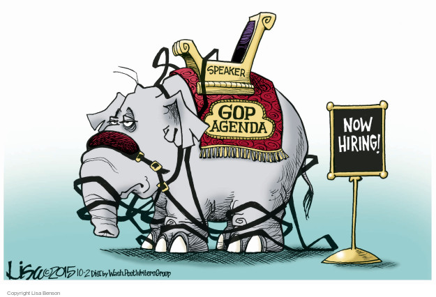 Cartoonist Lisa Benson  Lisa Benson's Editorial Cartoons 2015-10-02 Speaker of the House