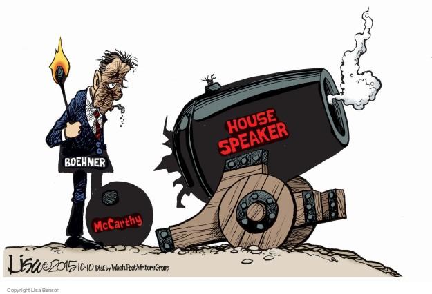 Cartoonist Lisa Benson  Lisa Benson's Editorial Cartoons 2015-10-10 Speaker of the House