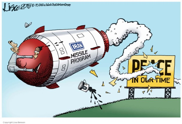 Cartoonist Lisa Benson  Lisa Benson's Editorial Cartoons 2015-10-15 nuclear