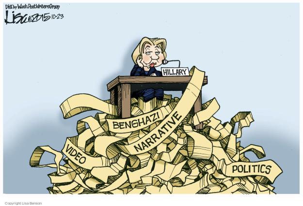 Cartoonist Lisa Benson  Lisa Benson's Editorial Cartoons 2015-10-23 congressional investigation