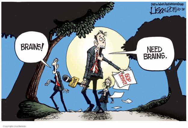 Cartoonist Lisa Benson  Lisa Benson's Editorial Cartoons 2015-10-30 election journalism