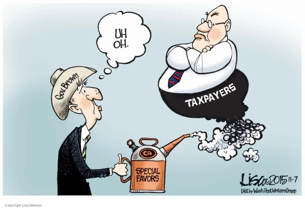 Cartoonist Lisa Benson  Lisa Benson's Editorial Cartoons 2015-11-07 Jerry Brown
