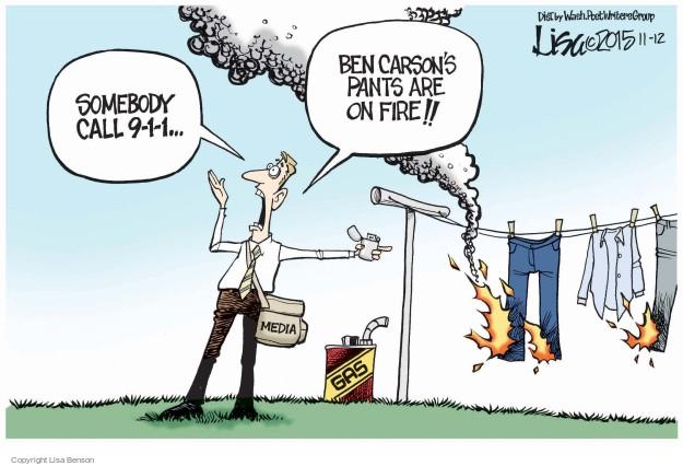 Cartoonist Lisa Benson  Lisa Benson's Editorial Cartoons 2015-11-12 election journalism