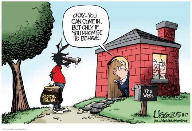 Lisa Benson  Lisa Benson's Editorial Cartoons 2015-11-17 terrorist