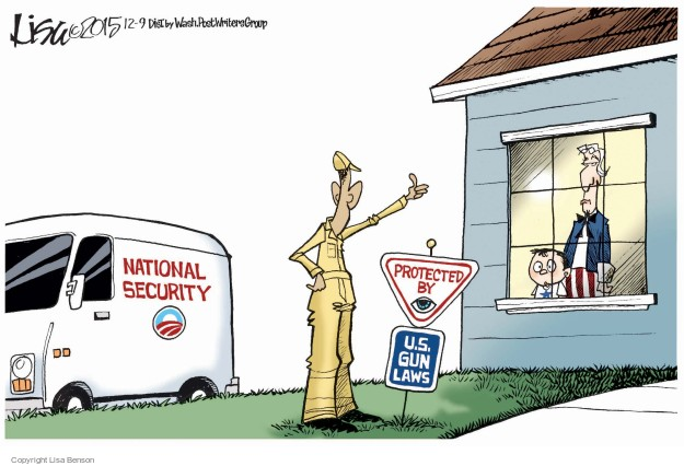 Lisa Benson  Lisa Benson's Editorial Cartoons 2015-12-09 gun control