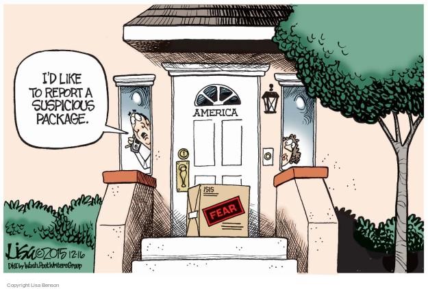 Lisa Benson  Lisa Benson's Editorial Cartoons 2015-12-16 terrorism
