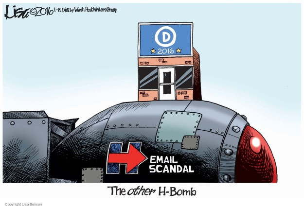 D 2016. Email scandal. The other H-bomb.