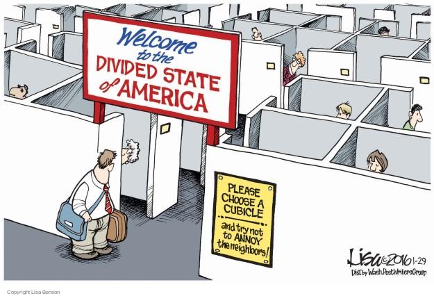Cartoonist Lisa Benson  Lisa Benson's Editorial Cartoons 2016-01-29 partisan politics