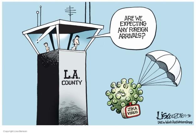 Cartoonist Lisa Benson  Lisa Benson's Editorial Cartoons 2016-01-30 virus
