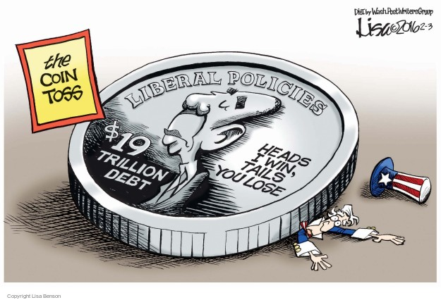 Lisa Benson  Lisa Benson's Editorial Cartoons 2016-02-03 coin