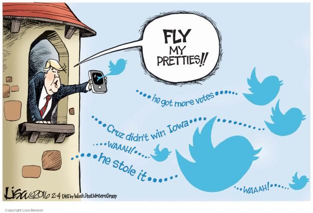 Cartoonist Lisa Benson  Lisa Benson's Editorial Cartoons 2016-02-04 election