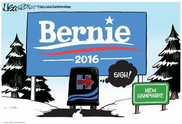 Cartoonist Lisa Benson  Lisa Benson's Editorial Cartoons 2016-02-09 election