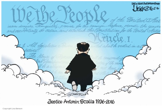 We the People … Article I. Justice Antonin Scalia 1936-2016.