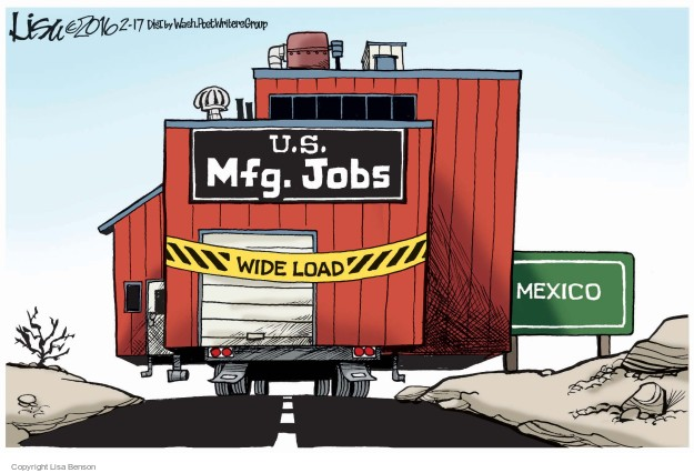 U.S. Mfg. Jobs. Wide Load. Mexico.