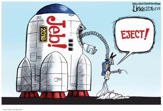 Lisa Benson  Lisa Benson's Editorial Cartoons 2016-02-23 2016 election Jeb Bush