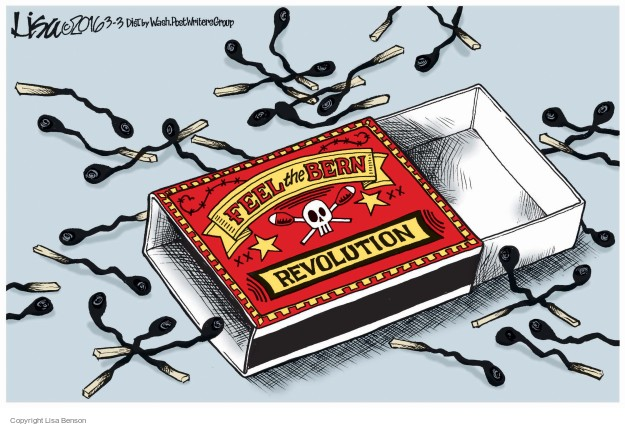 Lisa Benson  Lisa Benson's Editorial Cartoons 2016-03-03 2016 Election Bernie Sanders