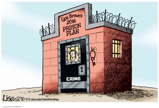 Cartoonist Lisa Benson  Lisa Benson's Editorial Cartoons 2016-03-05 Jerry Brown