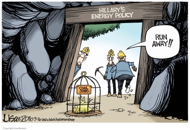 Cartoonist Lisa Benson  Lisa Benson's Editorial Cartoons 2016-03-16 coal