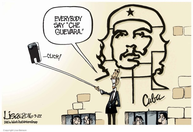 Cartoonist Lisa Benson  Lisa Benson's Editorial Cartoons 2016-03-22 Barack Obama selfie