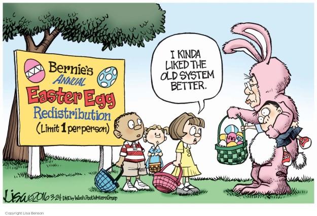 Lisa Benson  Lisa Benson's Editorial Cartoons 2016-03-24 2016 Election Bernie Sanders
