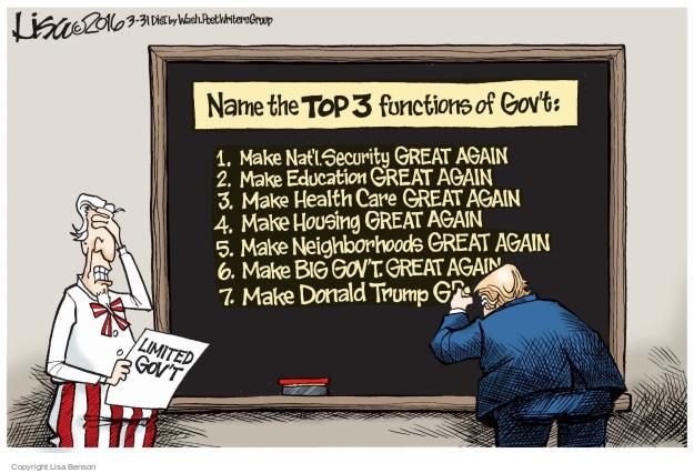 Cartoonist Lisa Benson  Lisa Benson's Editorial Cartoons 2016-03-31 national security