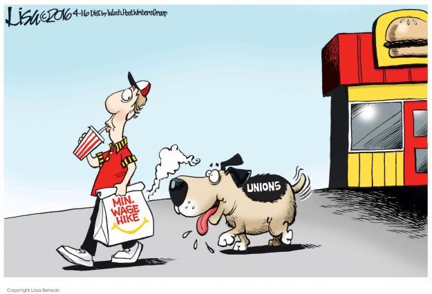 Min. wage hike. Unions.