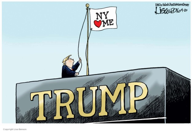 Lisa Benson  Lisa Benson's Editorial Cartoons 2016-04-20 New York