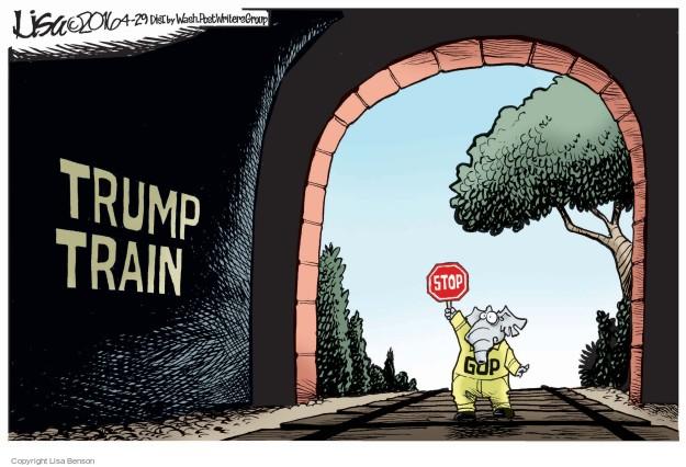 Cartoonist Lisa Benson  Lisa Benson's Editorial Cartoons 2016-04-29 train