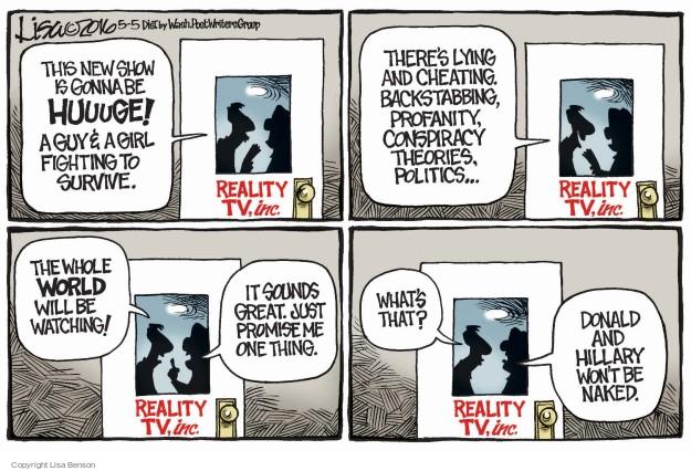 Lisa Benson  Lisa Benson's Editorial Cartoons 2016-05-05 reality television